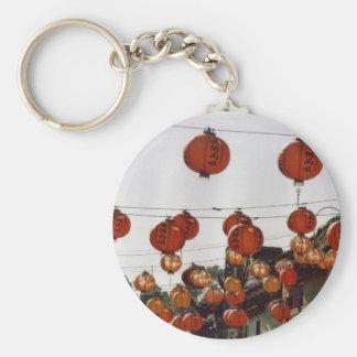 Paper Lanterns Basic Round Button Key Ring