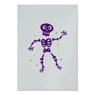 Paper luxury greeting with Skeleton Card