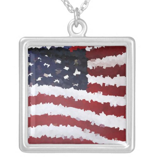 Paper Mache American Flag Jewelry