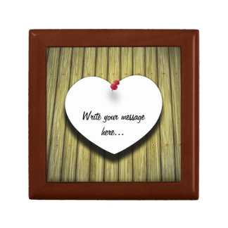 Paper Message Note Heart - Tile Gift Box