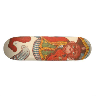 Paper monkey skateboard