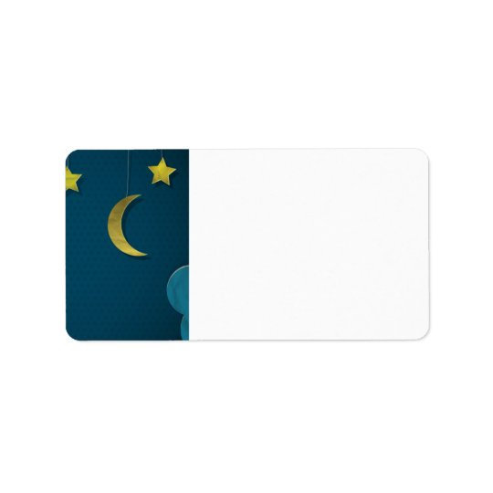 Paper Moon and Stars Label