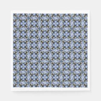 Paper Napkin Blue multicolor Pattern