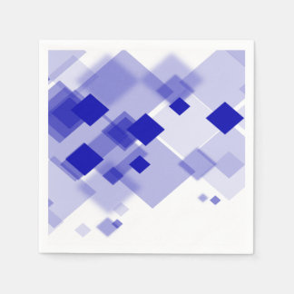 paper napkins Abstract argyle blue white custom