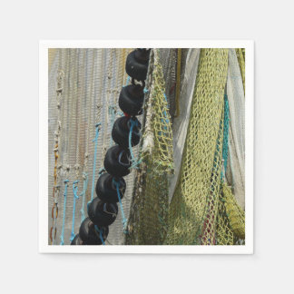 paper napkins  abstract beach fishing nets