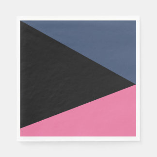 Paper napkins Abstracts Trio Marine/Rose