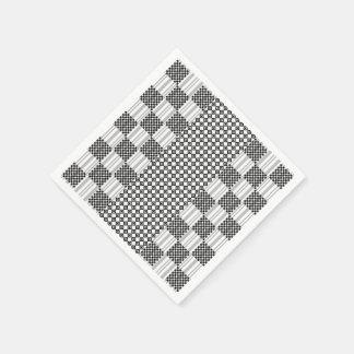Paper Napkins Black and White Graphic Design Paper Napkin