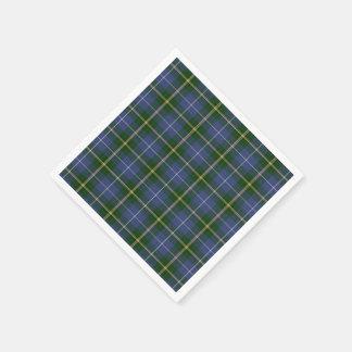 paper napkins  blue Nova Scotia Tartan plaid Paper Napkin