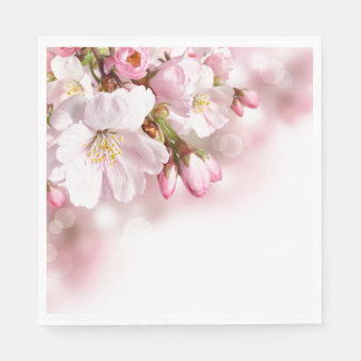 Paper Napkins-Cherry Blossoms Disposable Napkins