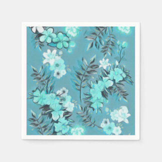 Paper Napkins Floral Abstract Design Disposable Napkin