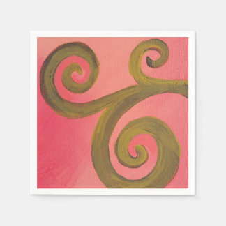 Paper Napkins- Sunset Swirl Disposable Napkin