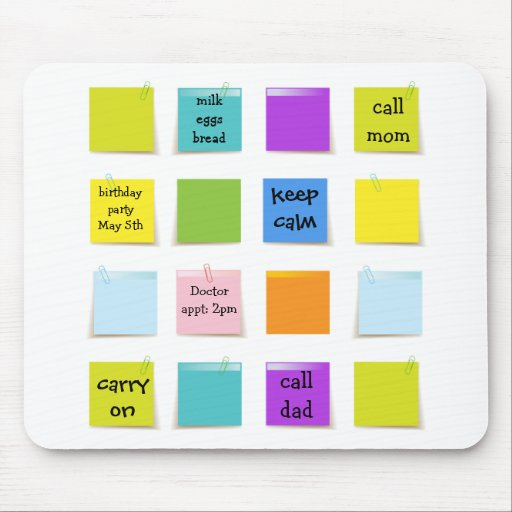 Paper Notes Mouse Pads