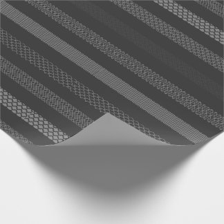 Paper of gift in gray tones, geometric drawing