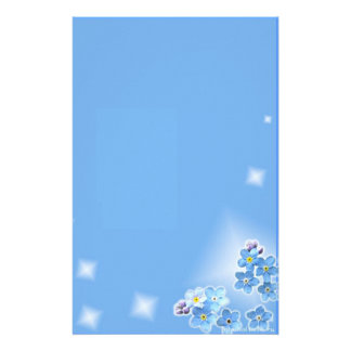 """Paper of letter """"blue Flowers """" Stationery Paper"""