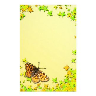 """Paper of letter """"Butterfly """" Stationery Design"""