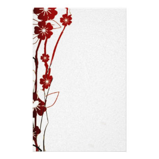 "Paper of letter ""Flowers "" Personalised Stationery"