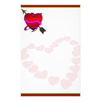 """Paper of letter """"gotten passionate Heart """" Stationery"""