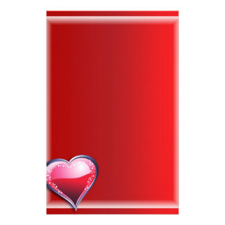 """Paper of letter """"Heart Shining """" Customised Stationery"""