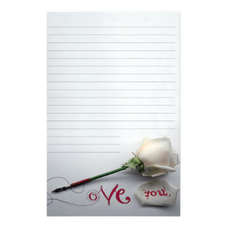 "Paper of letter ""Love You "" Stationery"