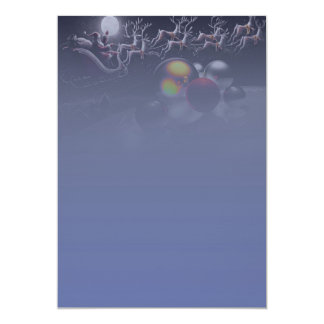 "Paper of letter ""Night of Christmas "" 13 Cm X 18 Cm Invitation Card"