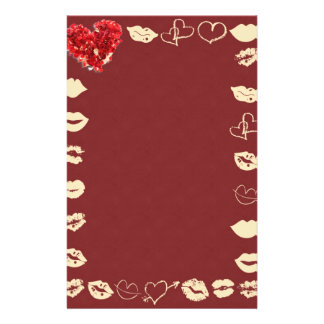 """Paper of letter """"young Love """" Stationery"""