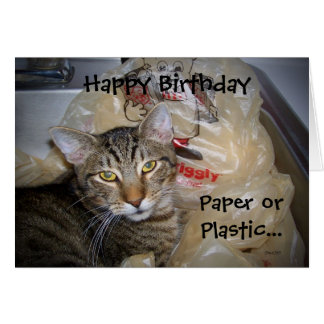 Paper or Plastic Card