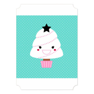 Paper party greeting with Happy tree Card