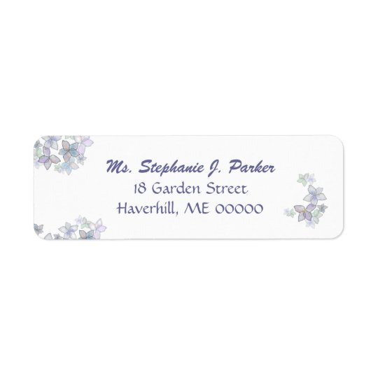 Paper Petals Floral Art Return Address Label