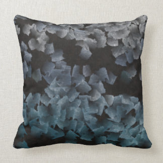 Paper pieces on the ground cushions