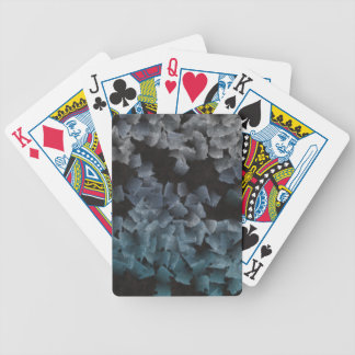 Paper pieces on the ground poker cards