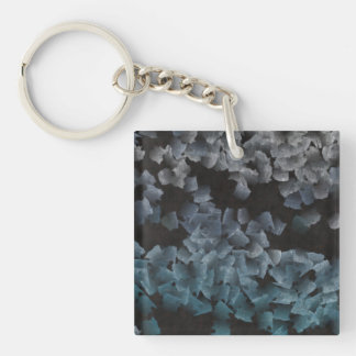 Paper pieces on the ground Single-Sided square acrylic key ring