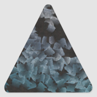 Paper pieces on the ground triangle sticker