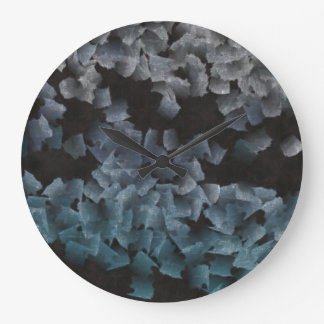 Paper pieces on the ground wallclock