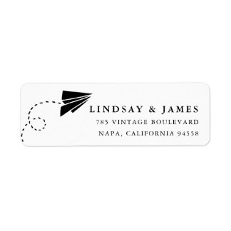 Paper Plane Return Address Return Address Label