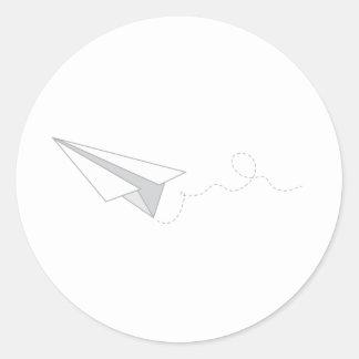 Paper Plane Round Sticker