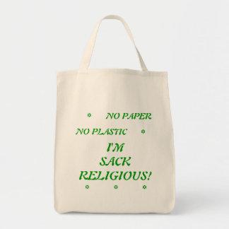 Paper Plastic No I'm Sack Religious Bags