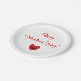"Paper Plate (7"") - Heart design"