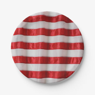paper plate-American flag stripes 7 Inch Paper Plate