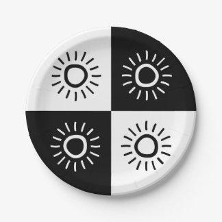 """Paper plate - Design : """"The sun shine"""""""