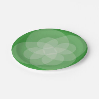 Paper Plate - Intersecting Circles 7 Inch Paper Plate