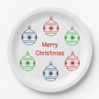 Paper Plate - Tree Ornaments and Greeting