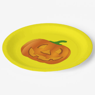 Paper Plate With Pumpkin 9 Inch Paper Plate