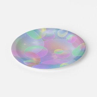"""Paper Plates 7 """"- Bubbles Design"""