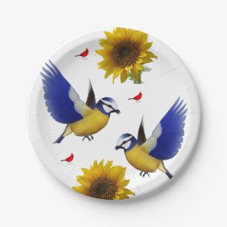 Paper plates Birds