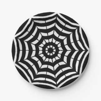 Paper Plates Black and White Design