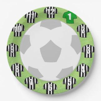 Paper Plates - Black & White Striped Sport Shirts