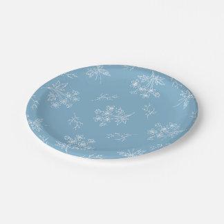 PAPER PLATES Blue Floral
