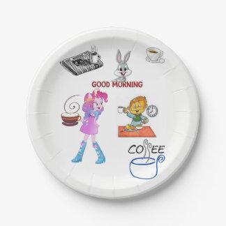 Paper plates Breakfast