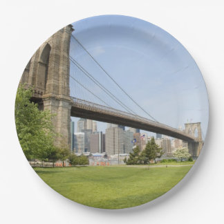 Paper Plates - Brooklyn Bridge, New York City 9 Inch Paper Plate