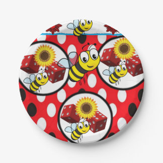 Paper plates Bumblebees